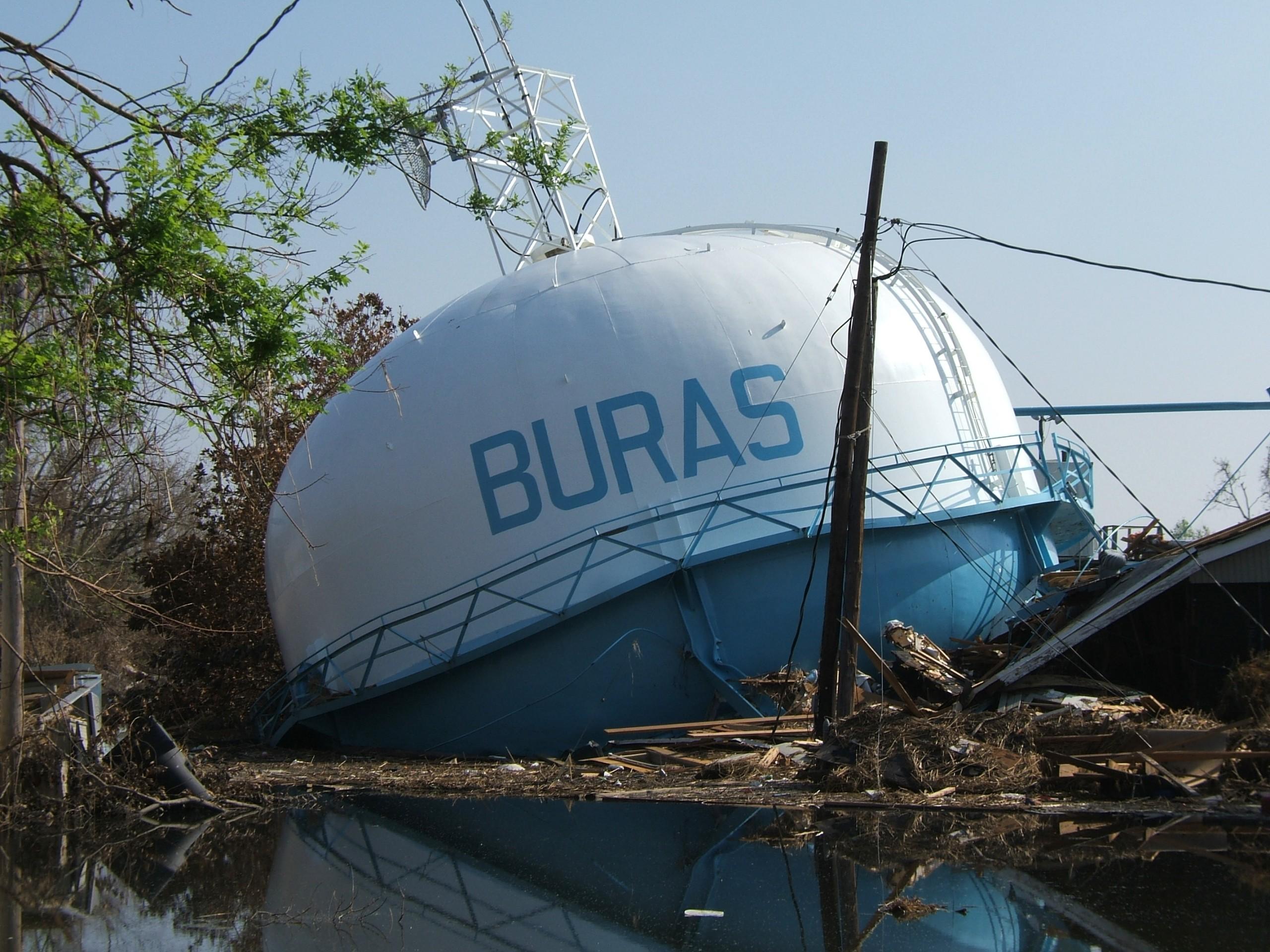 Buras, Louisiana after Hurricane Katrina. Photo by Ryan Lambert Hurricane